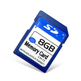 8GB High Speed SD Memory Card
